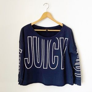 Juicy Couture Navy Blue Sweatshirt Size Medium